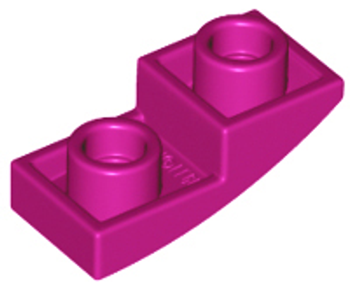Slope, Curved 2x1 Inverted (Magenta)