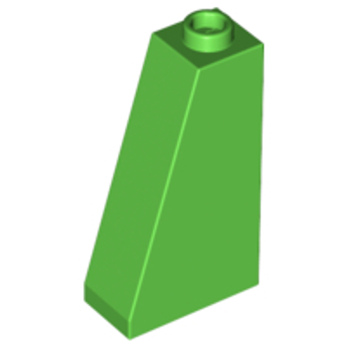 Slope 75 2x1x3 - Hollow Stud (Bright Green)