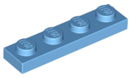 Plate 1x4 (Medium Blue)