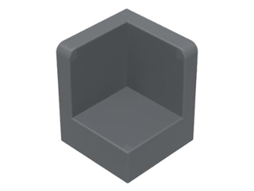 Panel 1x1x1 Corner (Dark Bluish Gray)