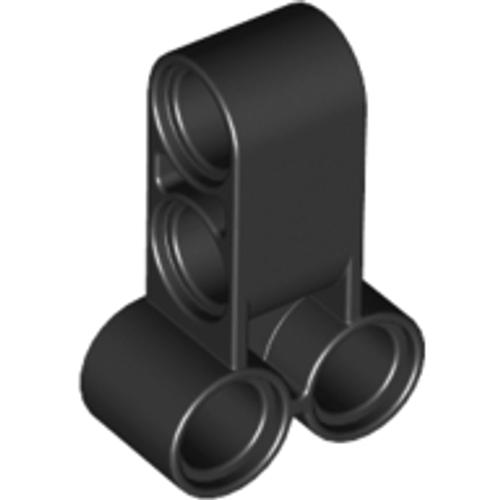 Technic, Pin Connector Perpendicular Double 3L (Black)