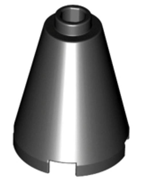 Cone 2x2x2 - Open Stud (Black)