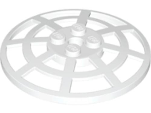 Dish 6x6 Inverted (Radar) Webbed - Type 2 (White)