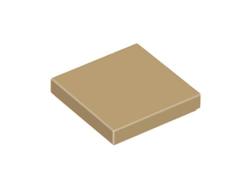 Tile 2x2 with Groove (Dark Tan)