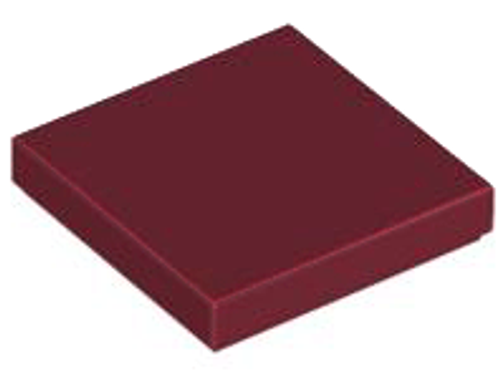 Tile 2x2 with Groove (Dark Red)