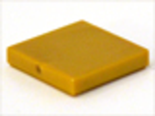 Tile 2x2 with Groove (Pearl Gold)