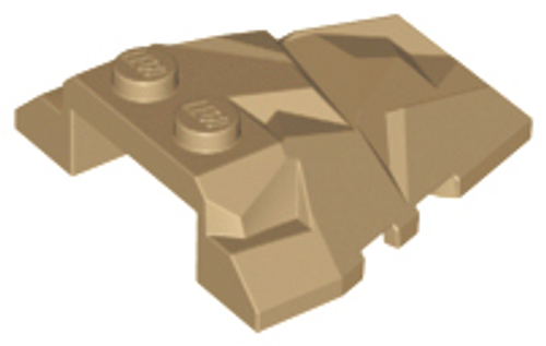 Wedge 4x4 Fractured Polygon Top (Dark Tan)