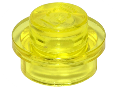 Plate, Round 1x1 (Trans Yellow)