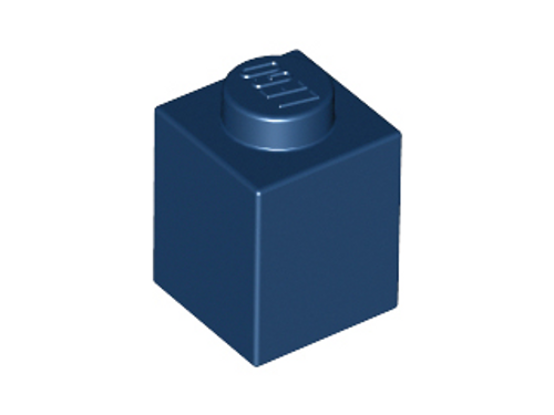 Brick 1x1 (Dark Blue)