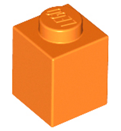 Brick 1x1 (Orange)