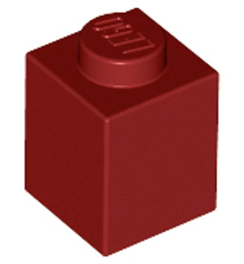 Brick 1x1 (Dark Red)