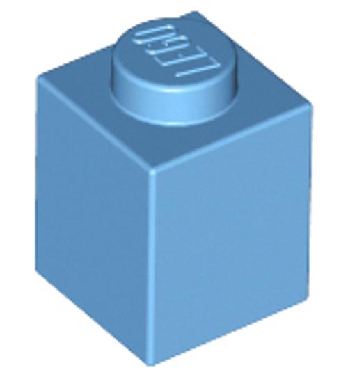 Brick 1x1 (Medium Blue)
