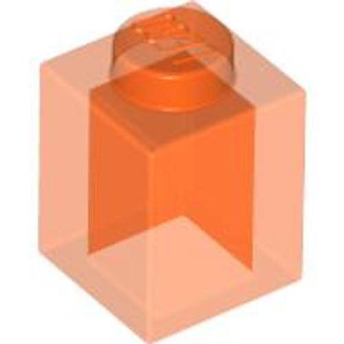 Brick 1x1 (Trans Orange)