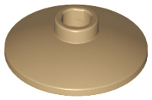 Dish 2x2 Inverted (Radar) (Dark Tan)