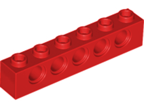 Technic, Brick 1x6 with Holes (Red)
