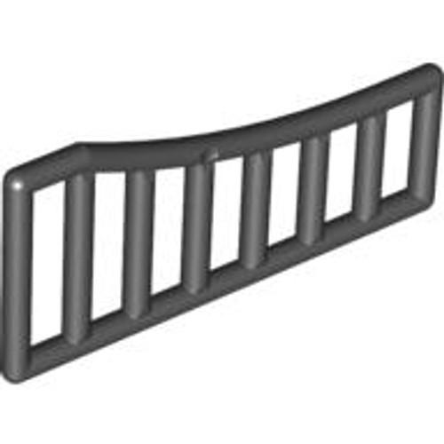 Bar 1x8x3 - 1 x 8 x 4 Curved (Black)