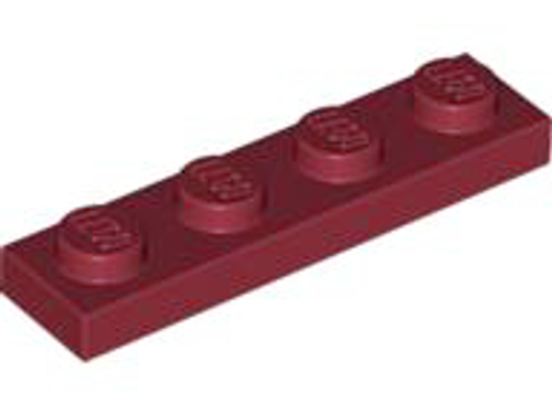 Plate 1x4 (Dark Red)