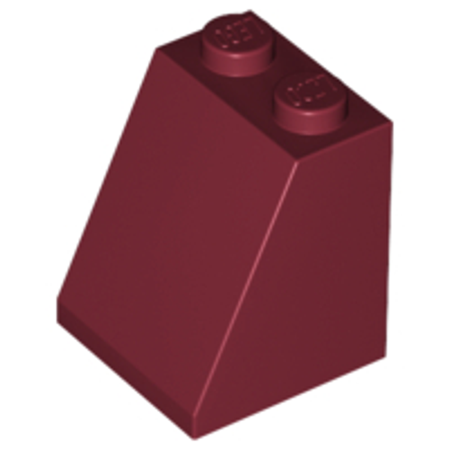 Slope 65 2x2x2 with Bottom Tube (Dark Red)