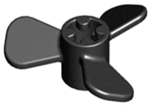 Propeller 3 Blade 3 Diameter (Black)
