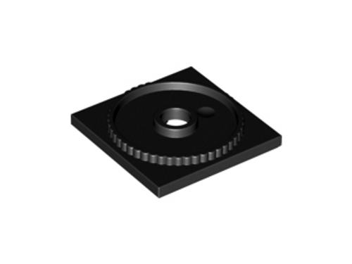 Turntable 4x4 Square Base, Locking (Black)