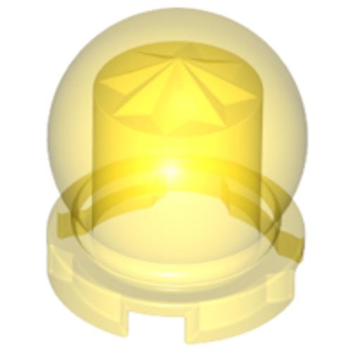 Minifigure, Utensil Crystal Ball Globe 2x2x2 (Trans Yellow)