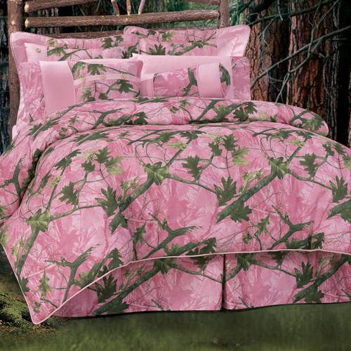 Pink Camo Bed Set - Queen