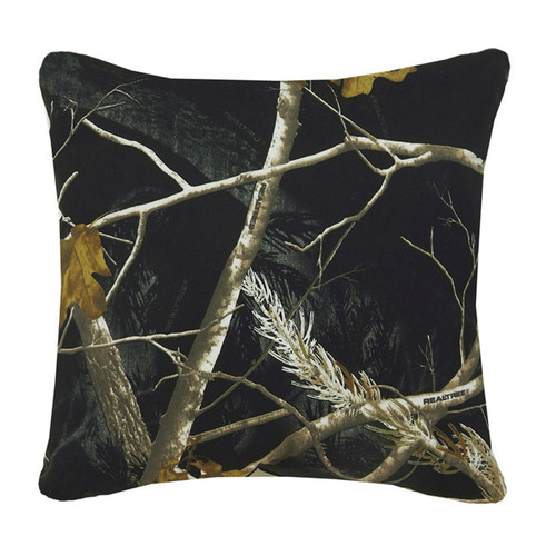 Realtree AP Black and Snow Square Pillow