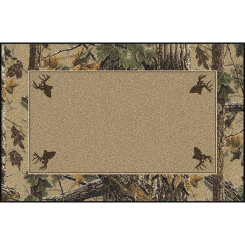 Realtree X-tra Brown Solid Center Rug - 3 x 4