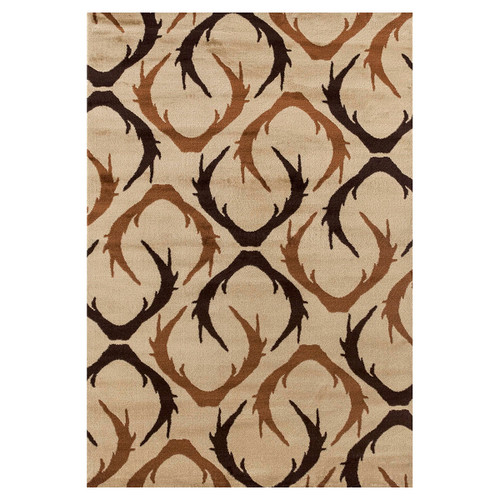 Black and Brown Antler Rug Collection