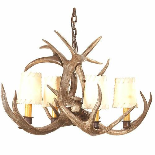 Coues Deer Antler Chandelier - 4 Light