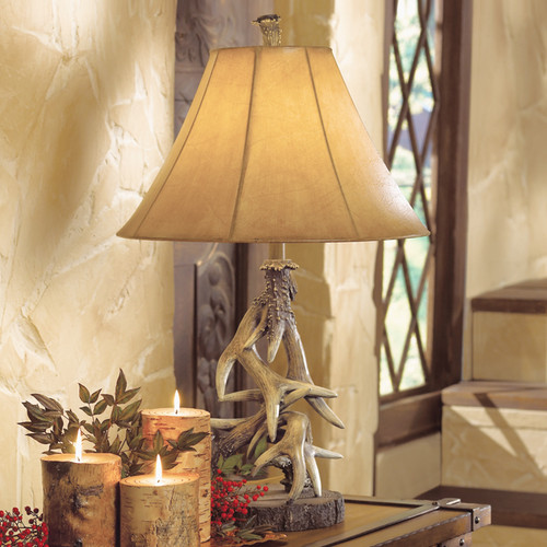 Faux Antler Table Lamp - BACKORDERED UNTIL 11/19/2021