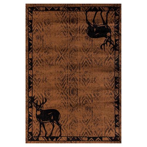 Deer Lodge Brown Rug Collection