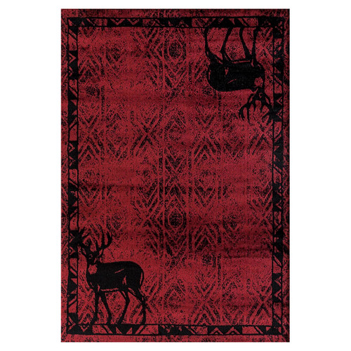 Deer Lodge Red Rug Collection