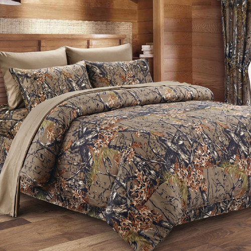Natural Woodland Camouflage Bedding Collection
