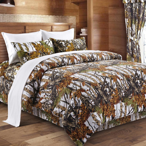 White Woodland Camouflage Bedding Collection