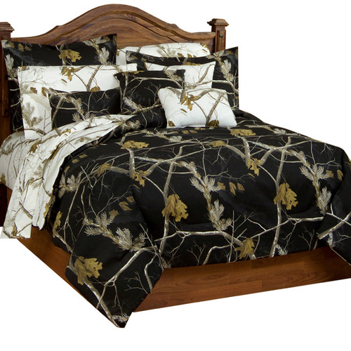 Realtree AP Black and Snow Bedding Collection