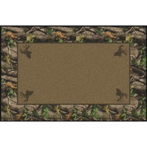Realtree Hardwoods Green Solid Center Rugs