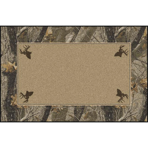 Realtree Hardwoods Solid Center Rugs