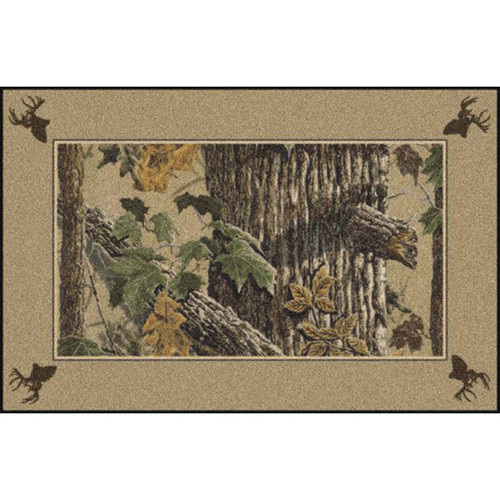 Realtree X-tra Brown Solid Border Rugs