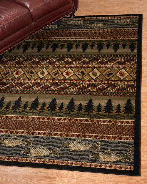 Trout and Pine Tree Rug Collection
