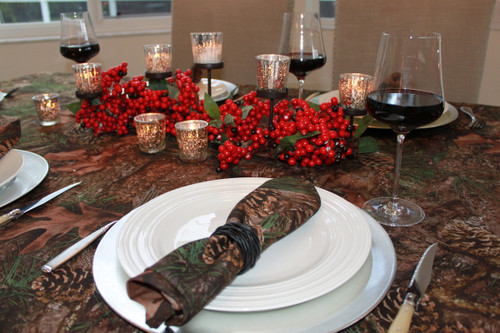 True Timber Mixed Pine Table Linens