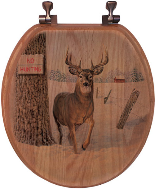No Hunting Toilet Seat