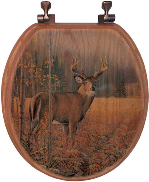 November Whitetail Deer Toilet Seat