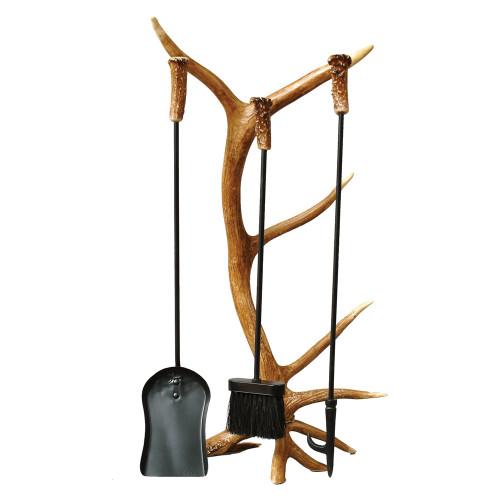 Antler Fireplace Tool Set (4 pcs)