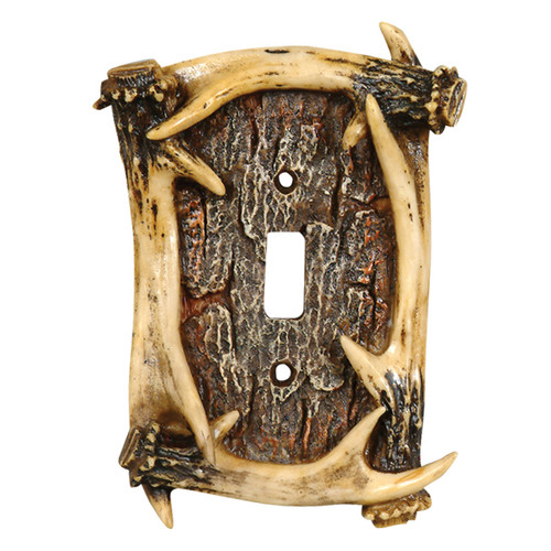 Antler Single Switch Plate