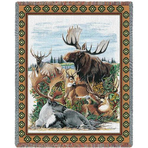 Antlered Animals Blanket