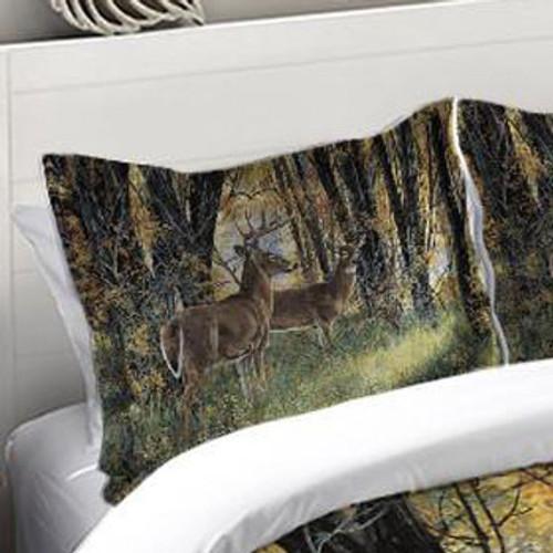 Autumn Forest Scene Duvet Sham