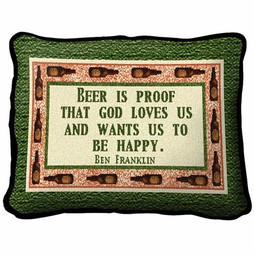 Beer is Proof Pillow