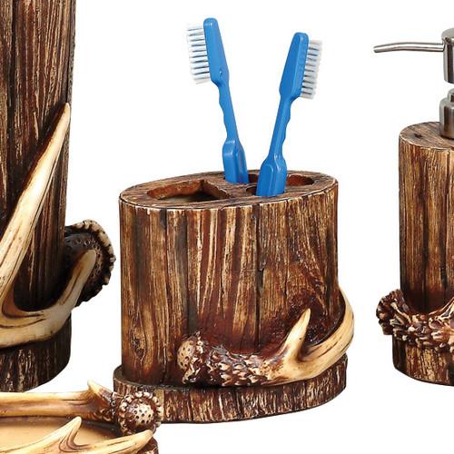 Buck Mountain Antler Toothbrush Holder