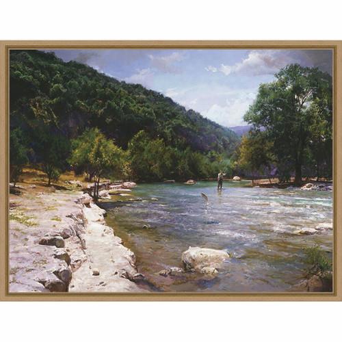 Crystal River Framed Canvas
